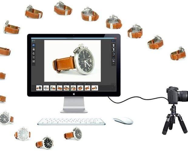360 graden productfotografie horloge